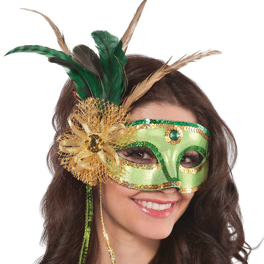 Nav Item for Woodland Fairy Feather Mask Image #2