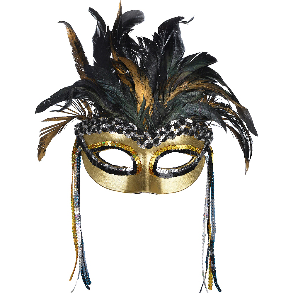 Warrior Goddess Feather Masquerade Mask Image #1