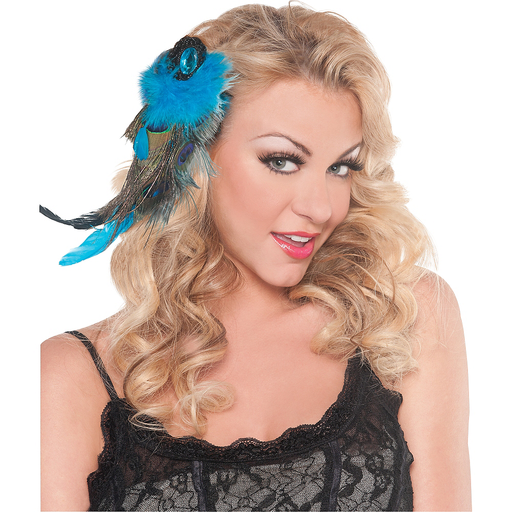 Peacock Feather Hair Clip Image #2
