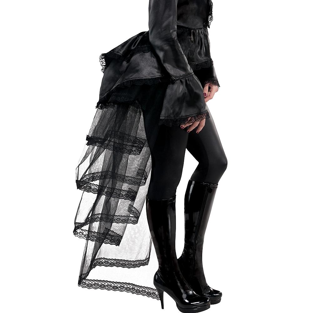 Goth Tie-On Black Bustle Image #1