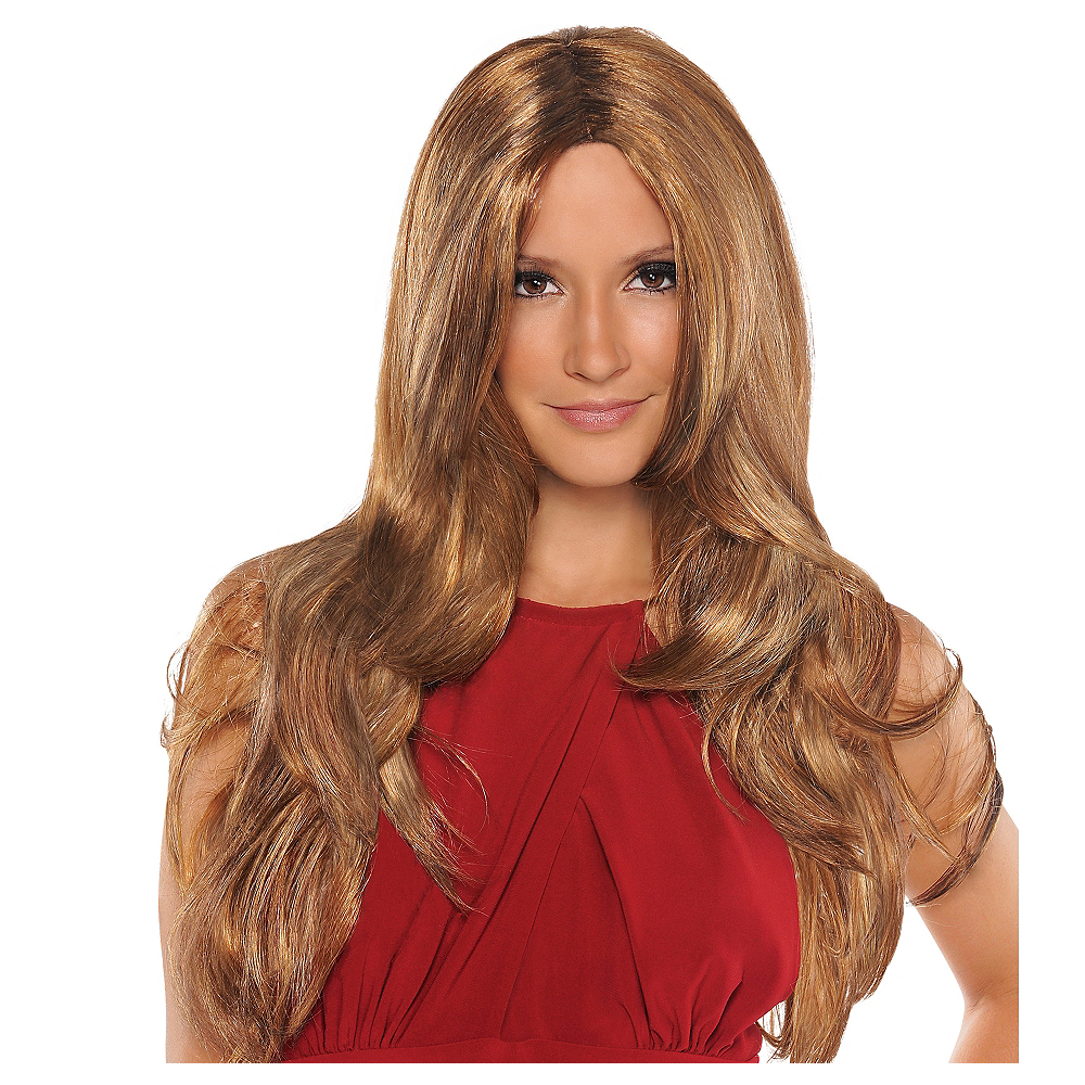 Hot Caramel Brown Wig Image #1