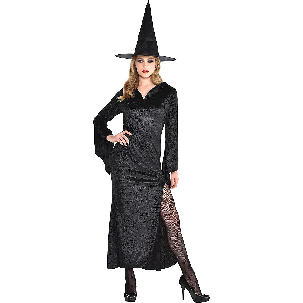 Adult Black Basic Witch Dress Image #1
