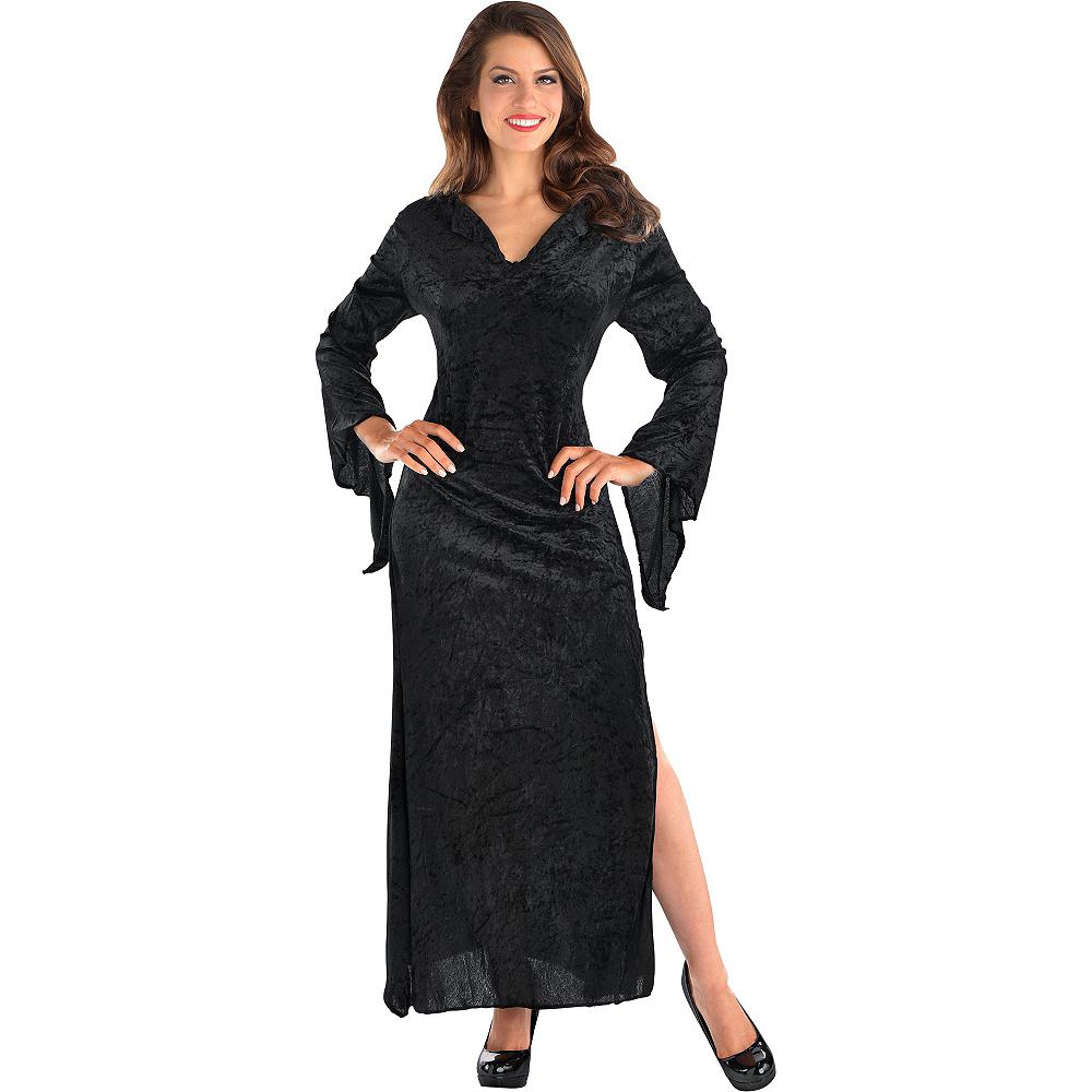 Adult Black Basic Witch Dress Image #3