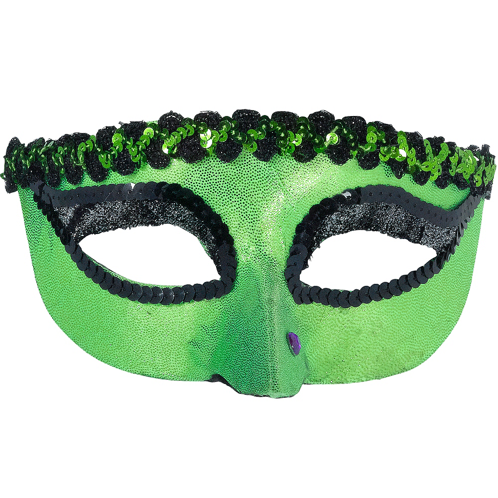 Green Witch Masquerade Mask Image #1