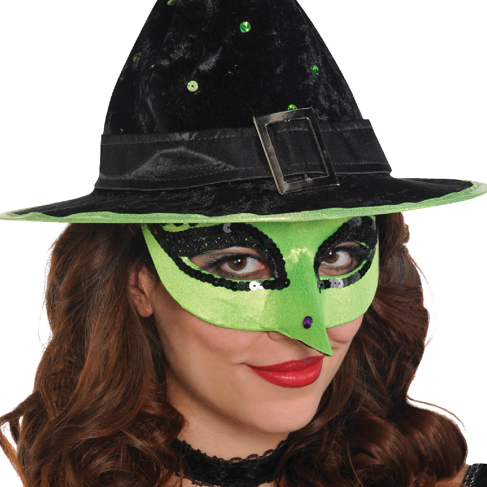 Green Witch Masquerade Mask Image #2