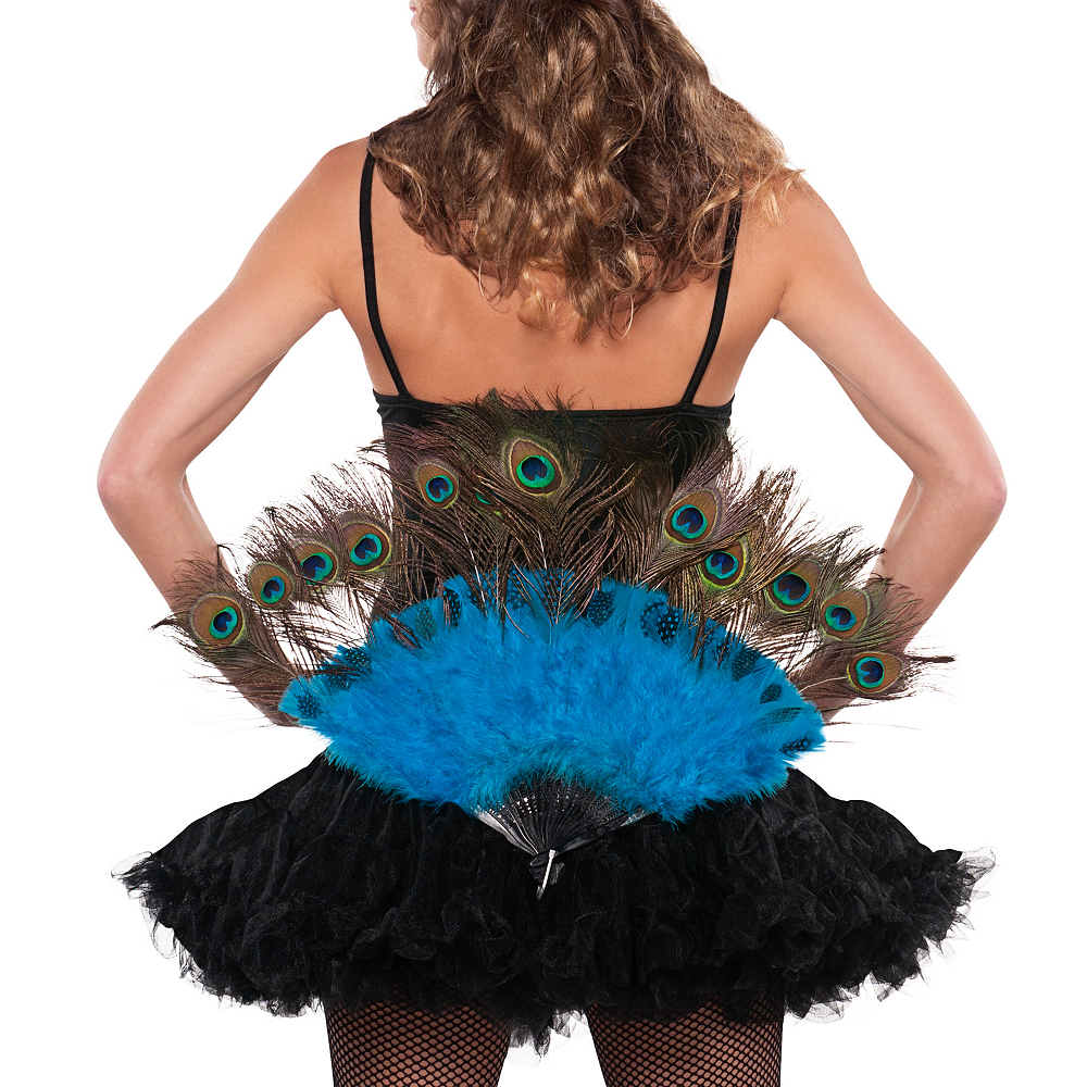 Nav Item for Peacock Feather Fan & Tail Accessory Image #3