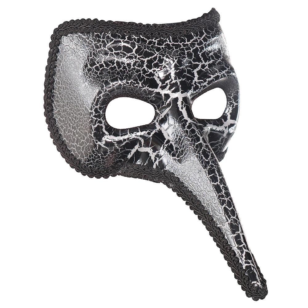 Black Crackle Long Nose Mask Image #1