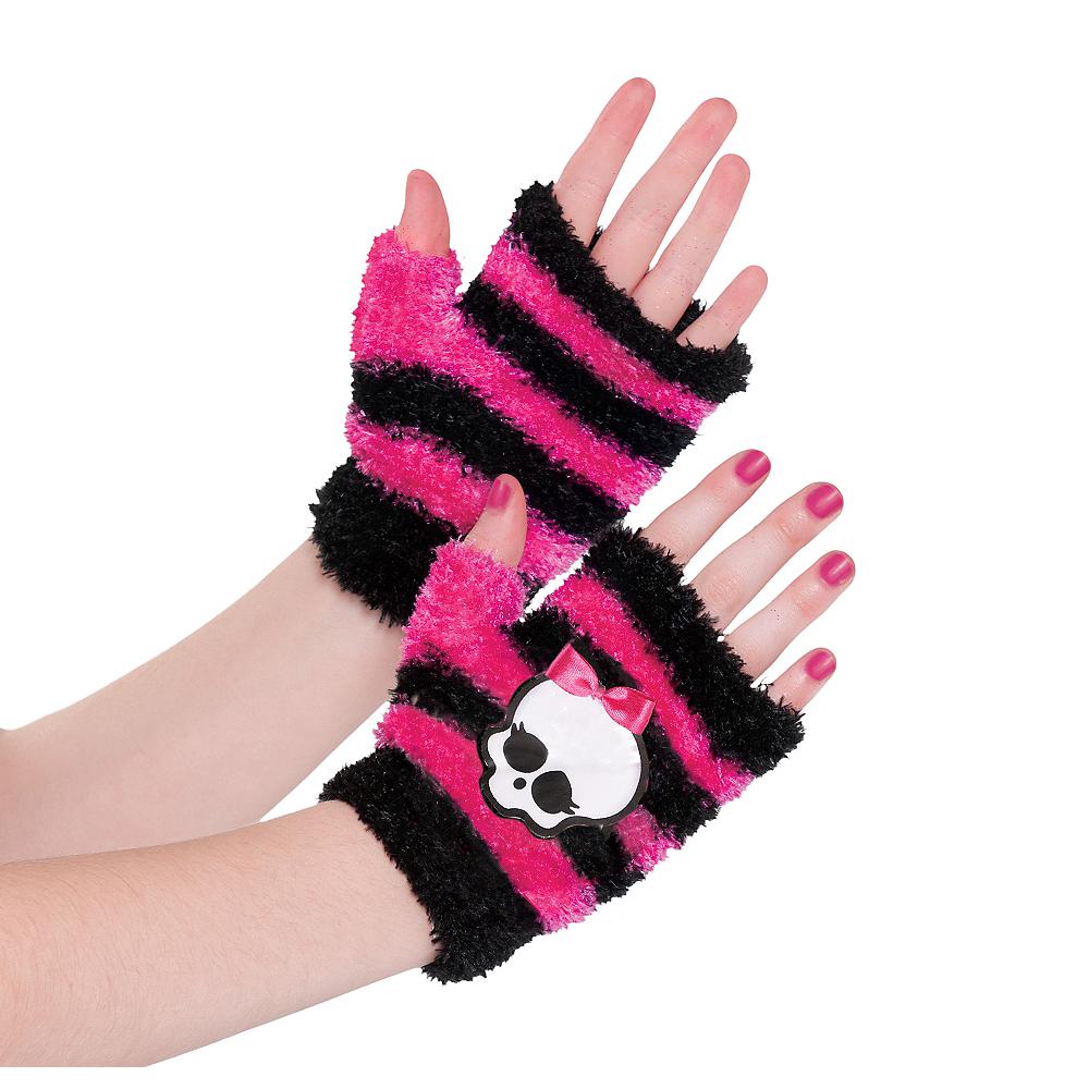 Child Fingerless Monster High Gloves Image #1