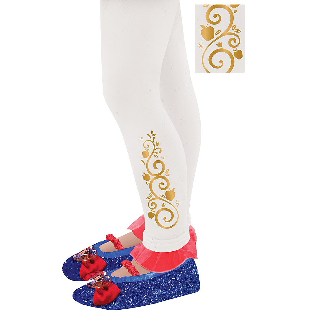 Child Footless Snow White Tights Image #1