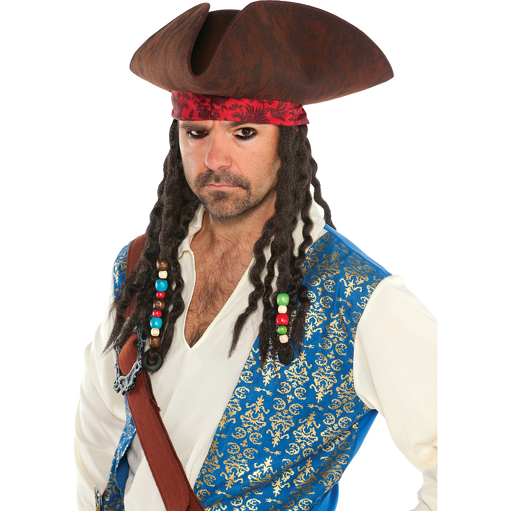 Pirates of the Caribbean Hat With Braids Image #2