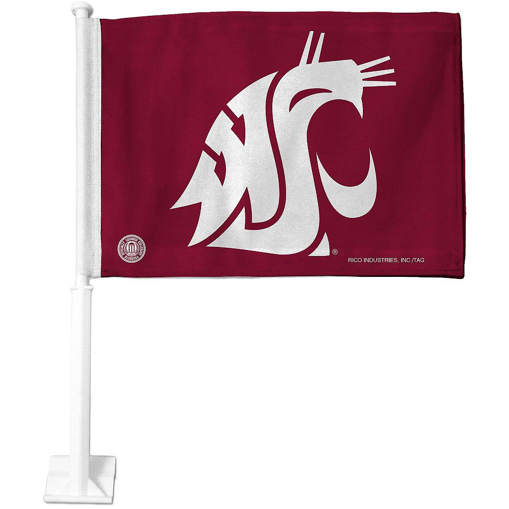 Washington State Cougars Car Flag Image #1