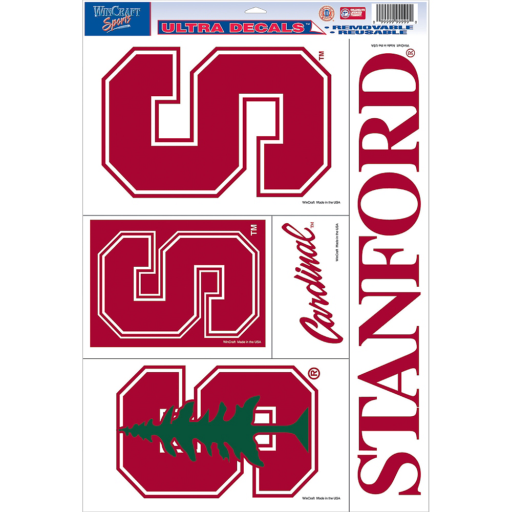 Stanford Cardinal Decals 5ct Image #1