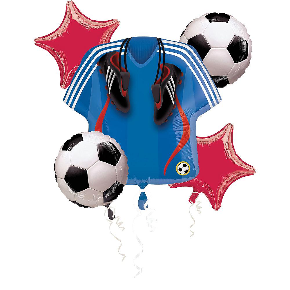 Soccer Balloon Bouquet 5pc Image #1