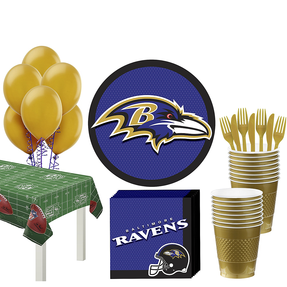 Super Baltimore Ravens Party Kit for 18 Guests Image #1