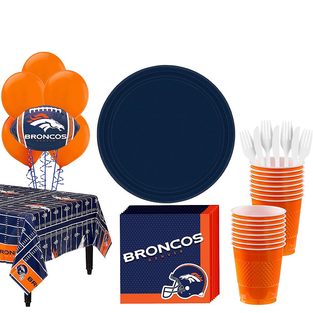 Super Denver Broncos Party Kit for 18 Guests Image #1