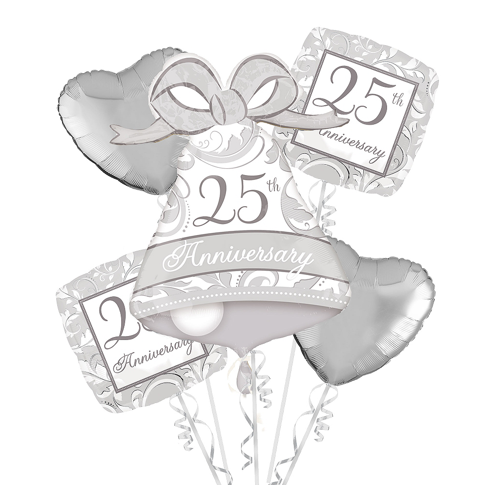 25th Anniversary Balloon Bouquet in Image #1