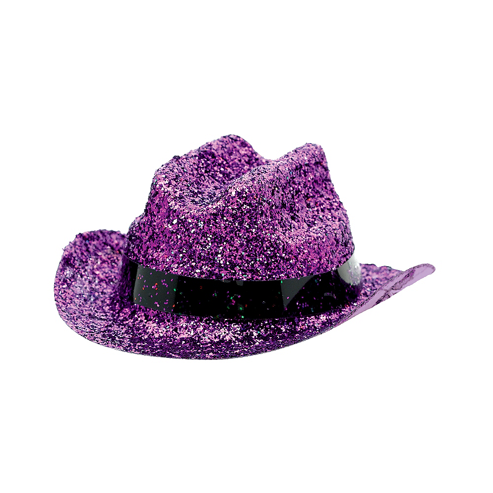 Purple Glitter Mini Cowboy Hat Image #2