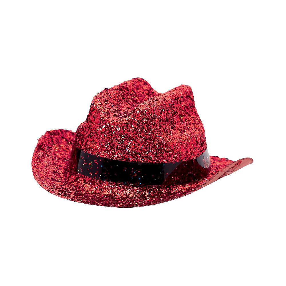 Red Glitter Mini Cowboy Hat Image #2