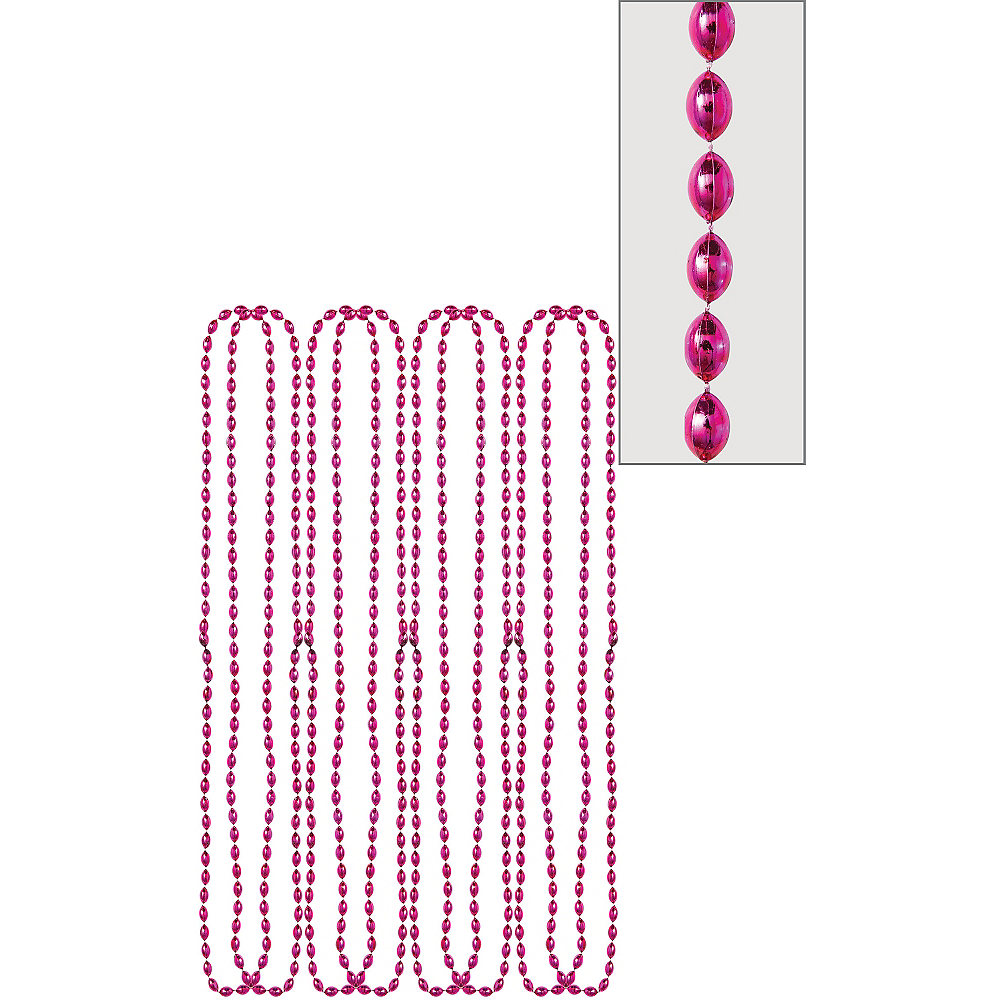 Metallic Pink Bead Necklaces 8ct | Party City