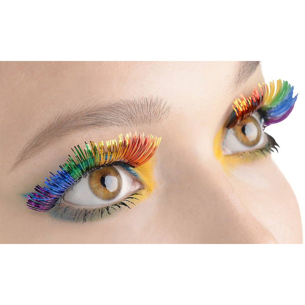 Self Adhesive Rainbow Tinsel False Eyelashes Party City Canada