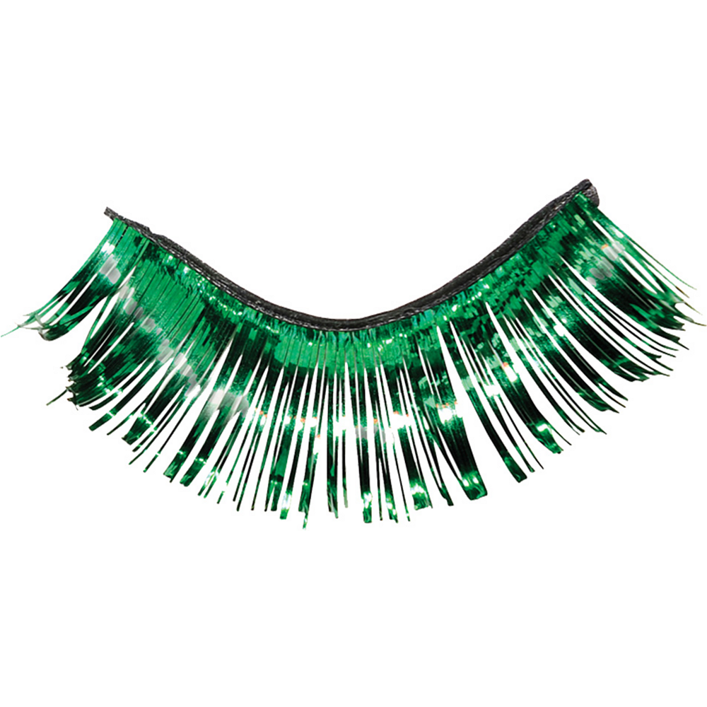 Self-Adhesive Green Tinsel False Eyelashes Image #2