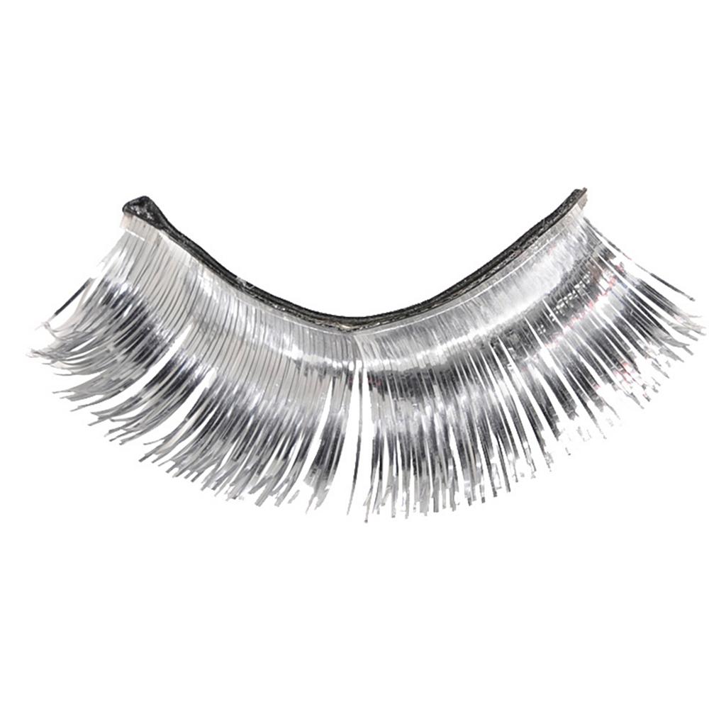 Self-Adhesive Silver Tinsel False Eyelashes Image #2