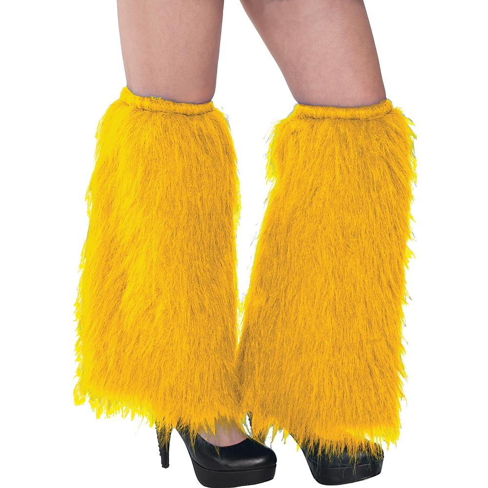 Yellow Furry Leg Warmers Image #1