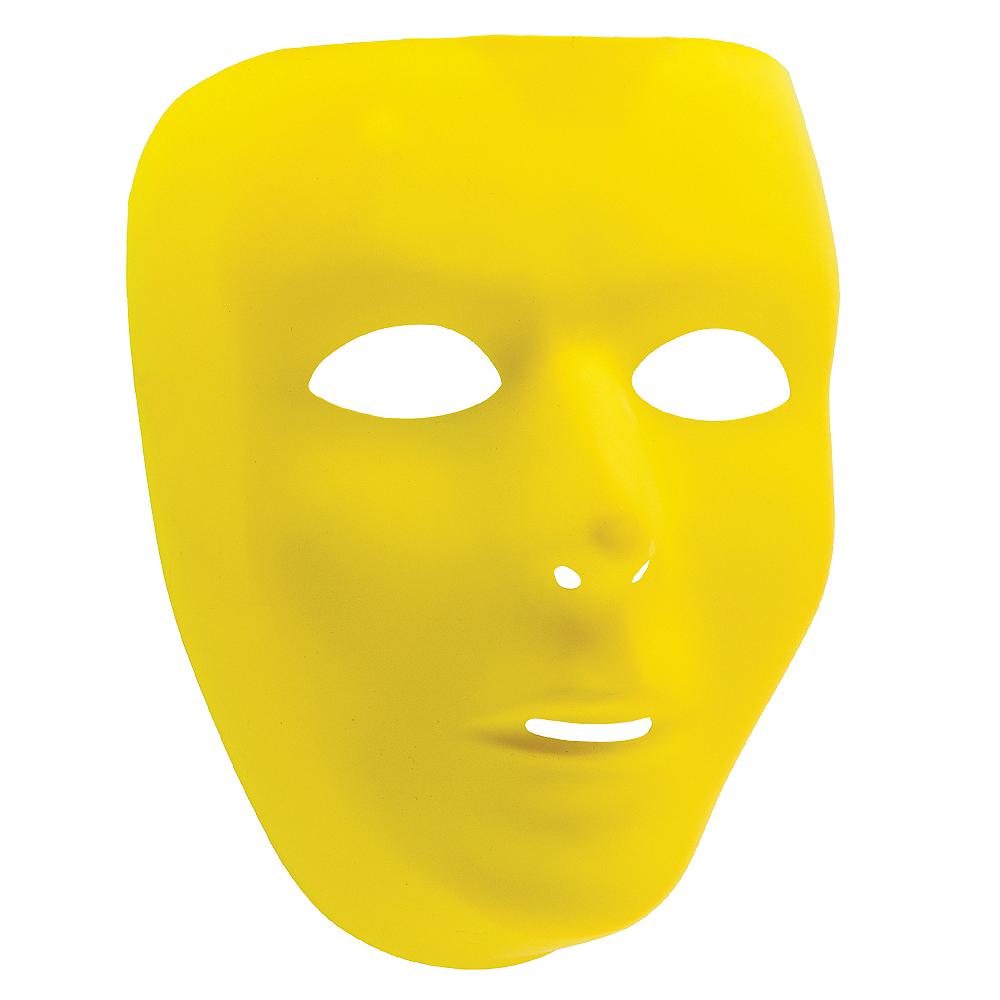 Basic Yellow Face Mask Image #1