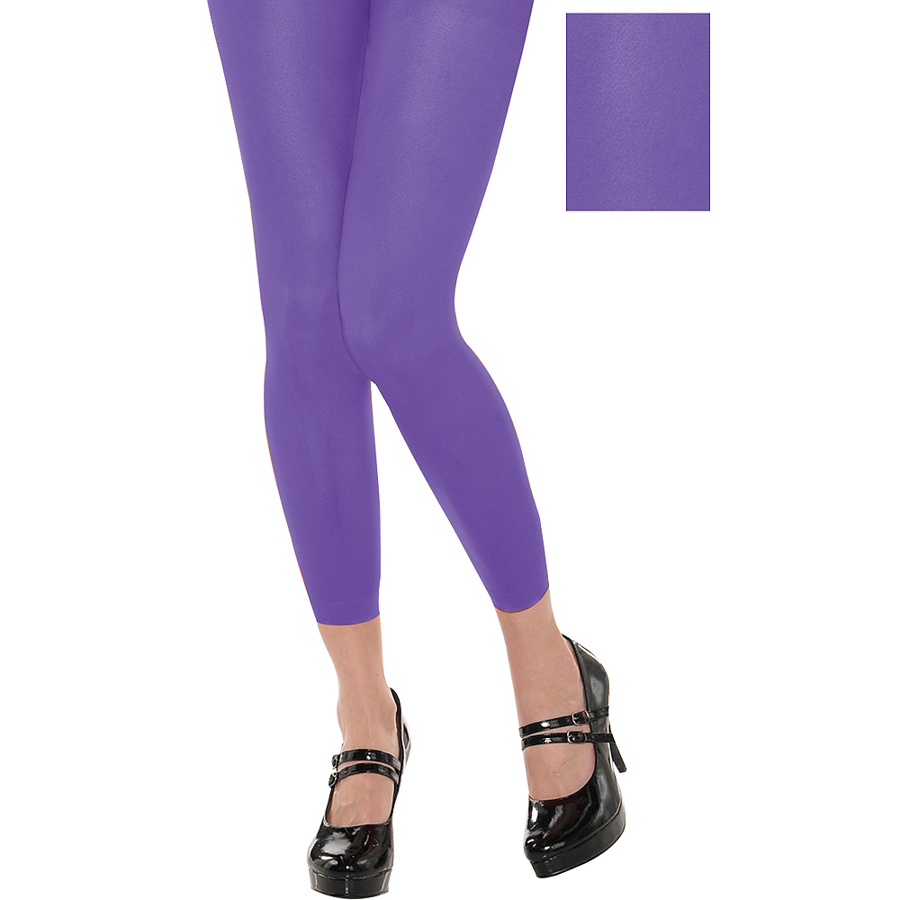 b47048f348a27 Purple Footless Tights | Party City
