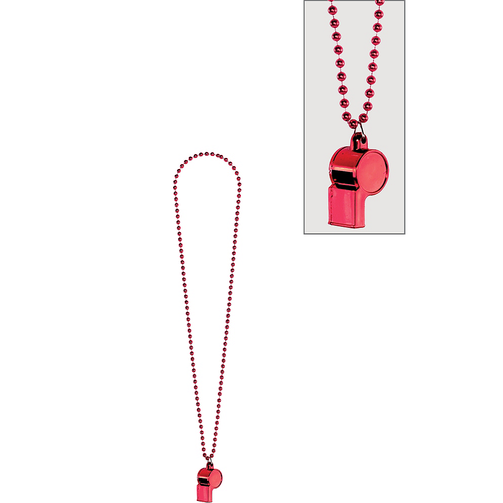 Red Whistle Necklace Image #1