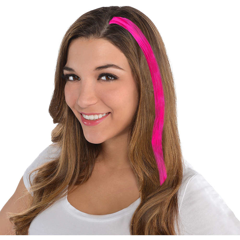 Pink Hair Extension 15in Party City