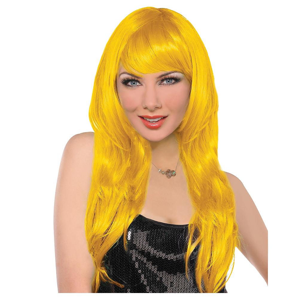 Glamorous Long Yellow Wig Image #1