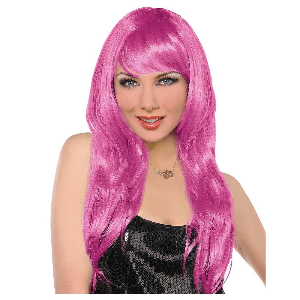Glamorous Long Pink Wig Image #1