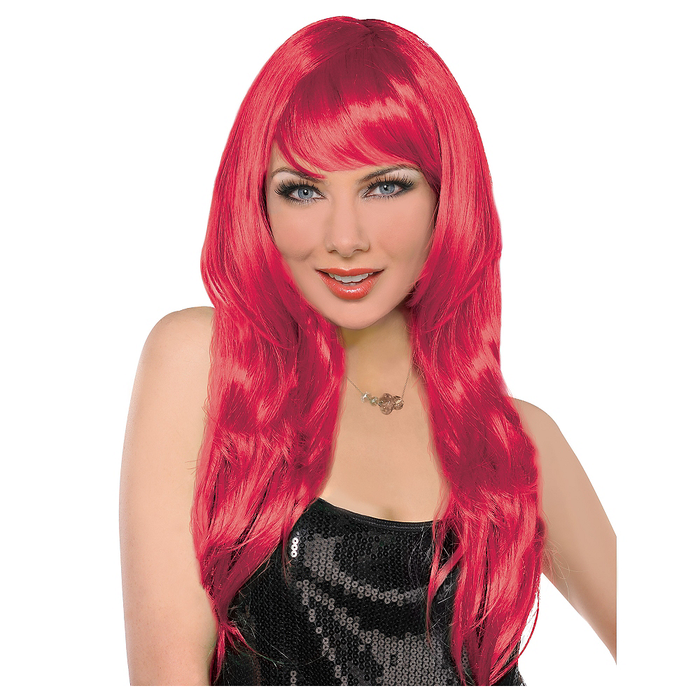 Nav Item for Glamorous Long Red Wig Image #1