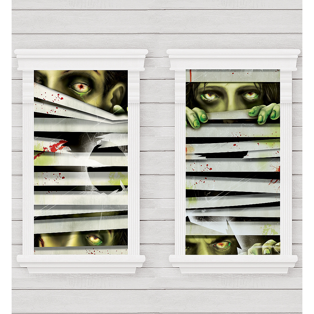 Peeping Zombie Window Decorations 2ct Image #1