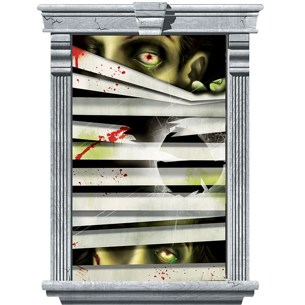 Peeping Zombie Window Decorations 2ct Image #2