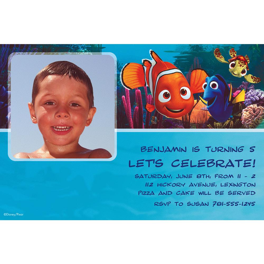 Custom Nemo & Friends Photo Invitations Image #1