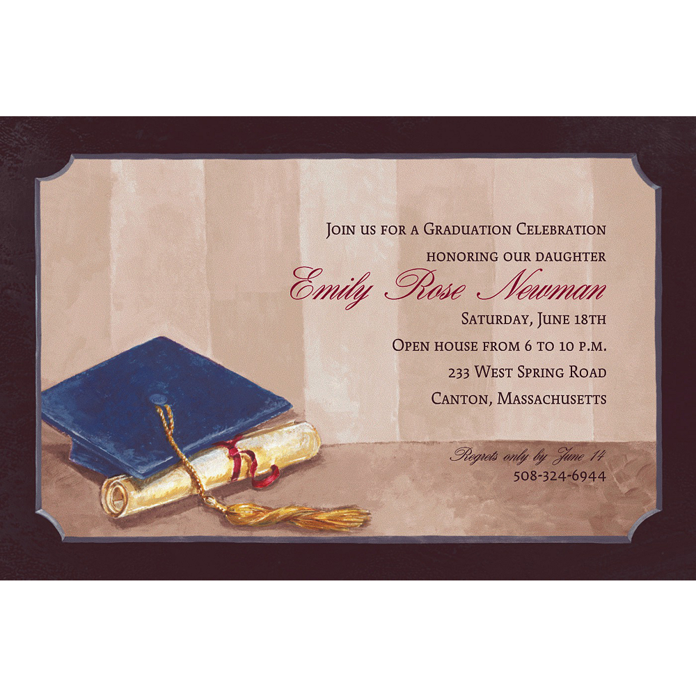 Custom Framed Cap & Diploma Graduation Invitations  Image #1