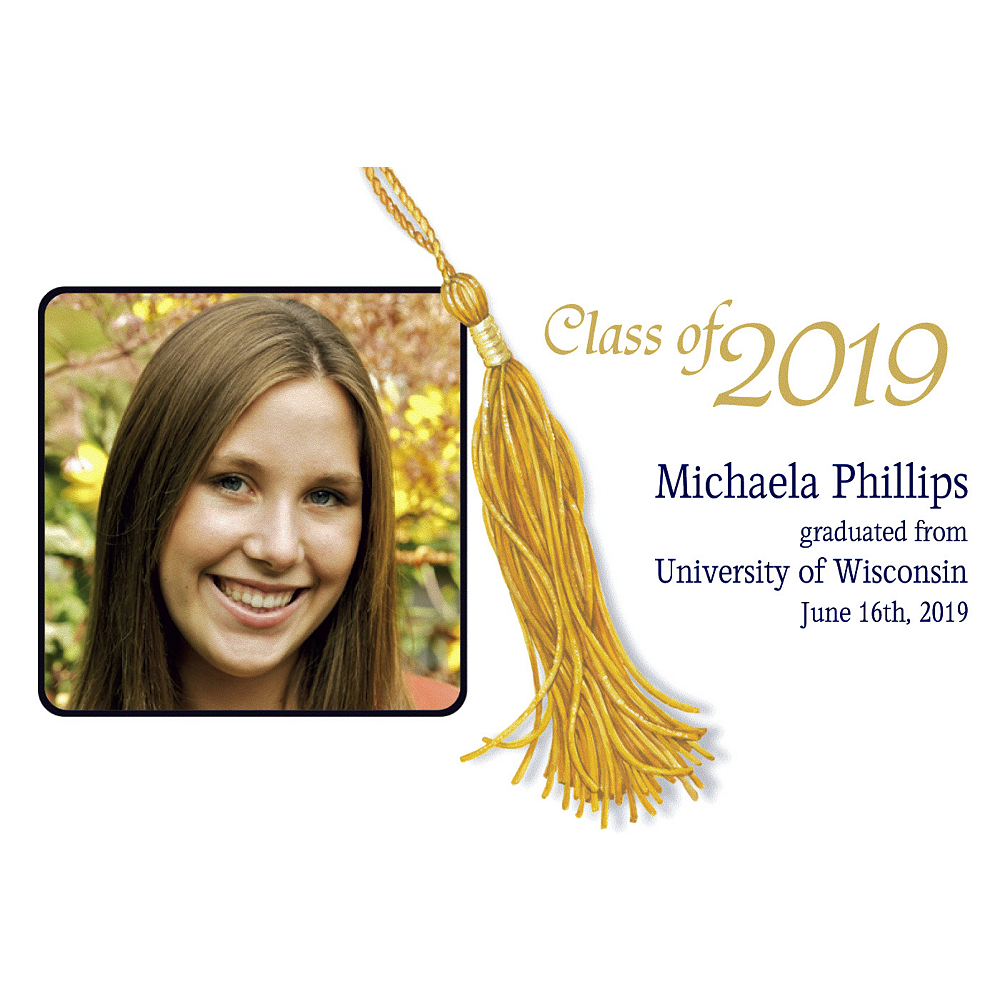 Custom Grad Tassle Photo Announcements Image #1