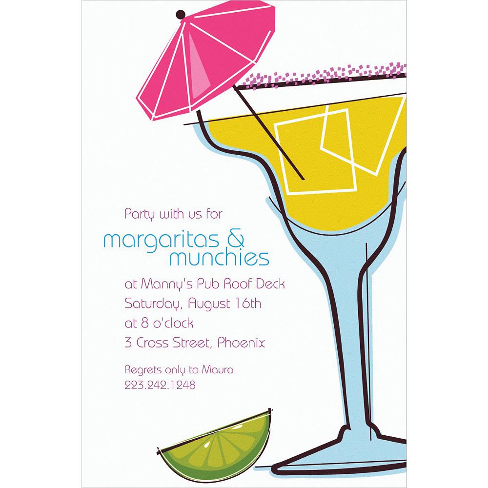 Custom Summertime Margarita Invitations Image #1