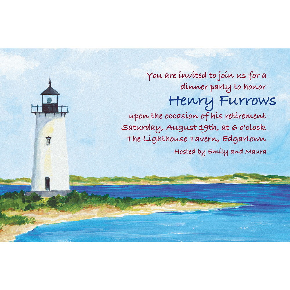 Custom Classic Lighthouse Invitations  Image #1