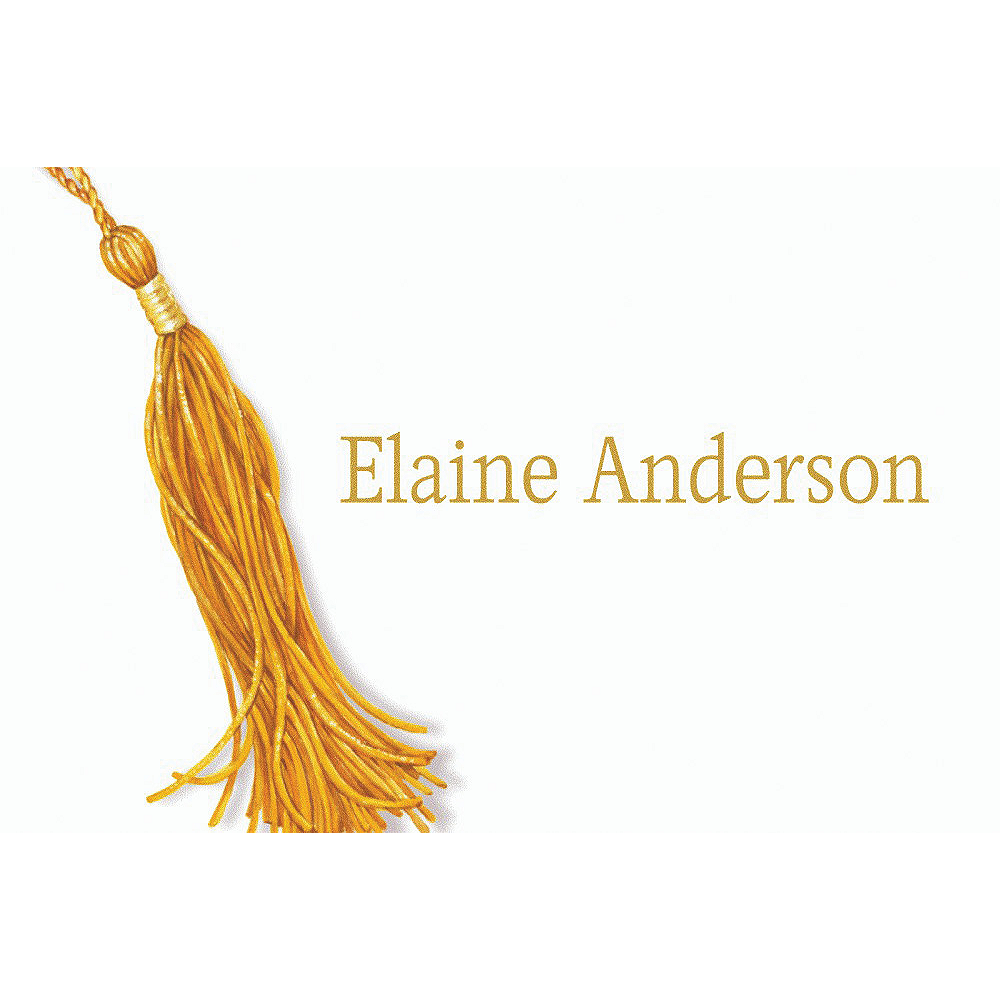 Custom Grad Tassle with Image Thank You Notes     Image #1