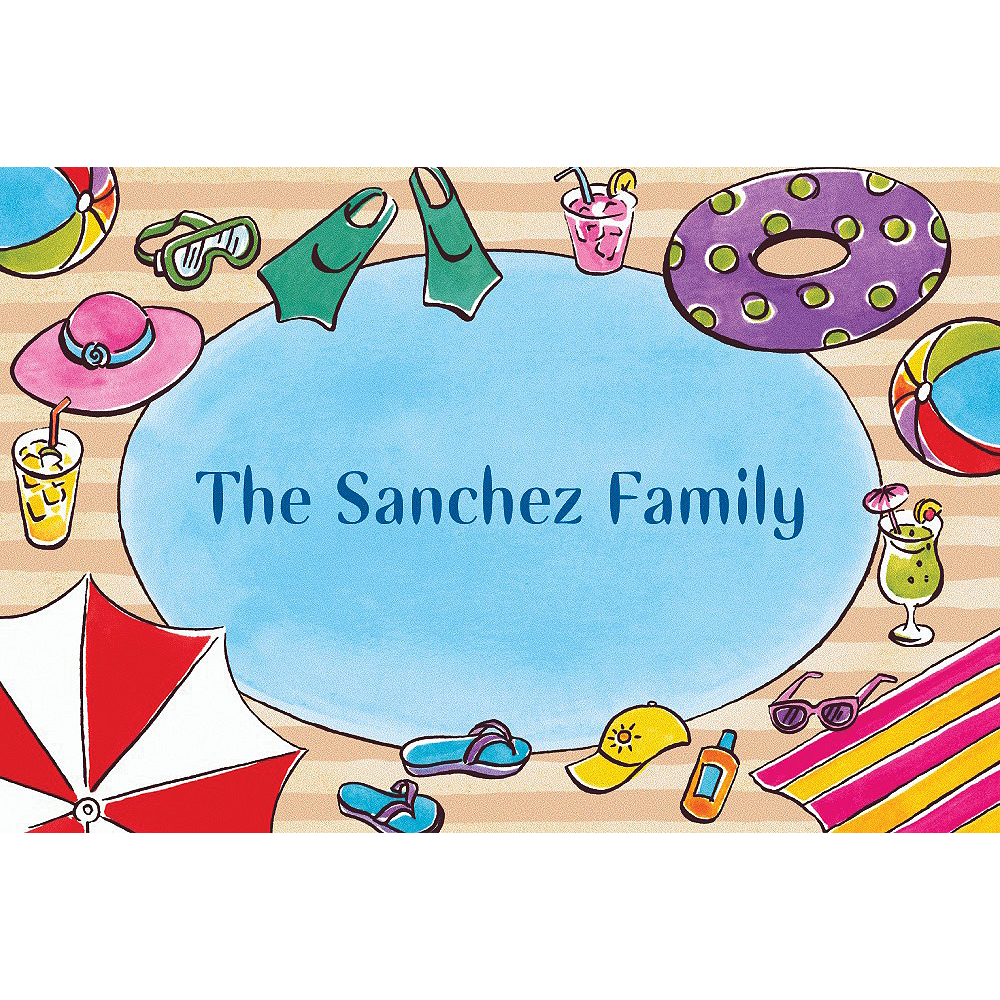 Custom Poolside Soiree Thank You Notes Image #1