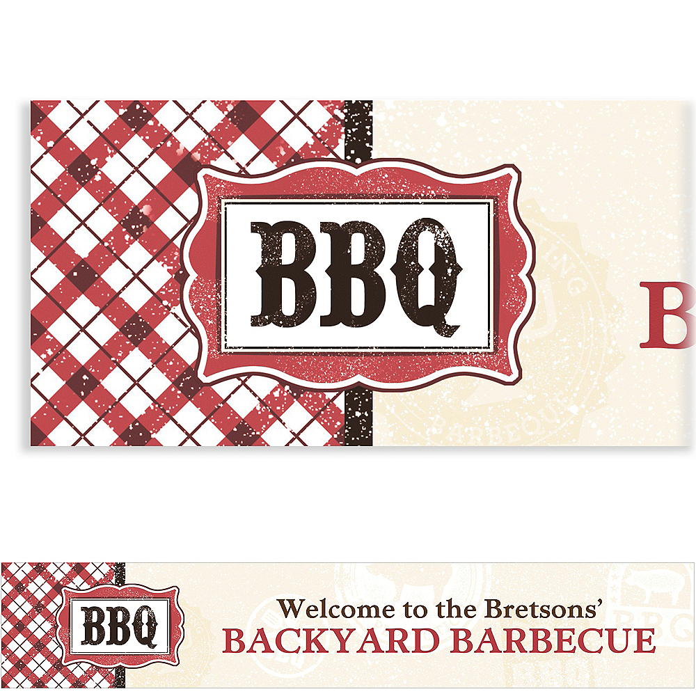 Custom It's BBQ Time Summer Banner 6ft Image #1