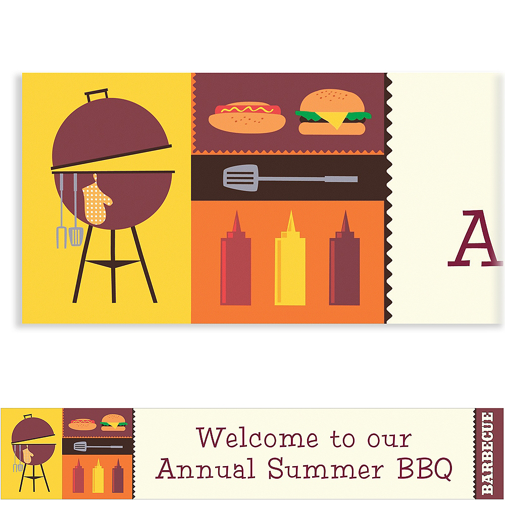 Custom Sizzling Hot Barbecue Summer Banner 6ft Image #1