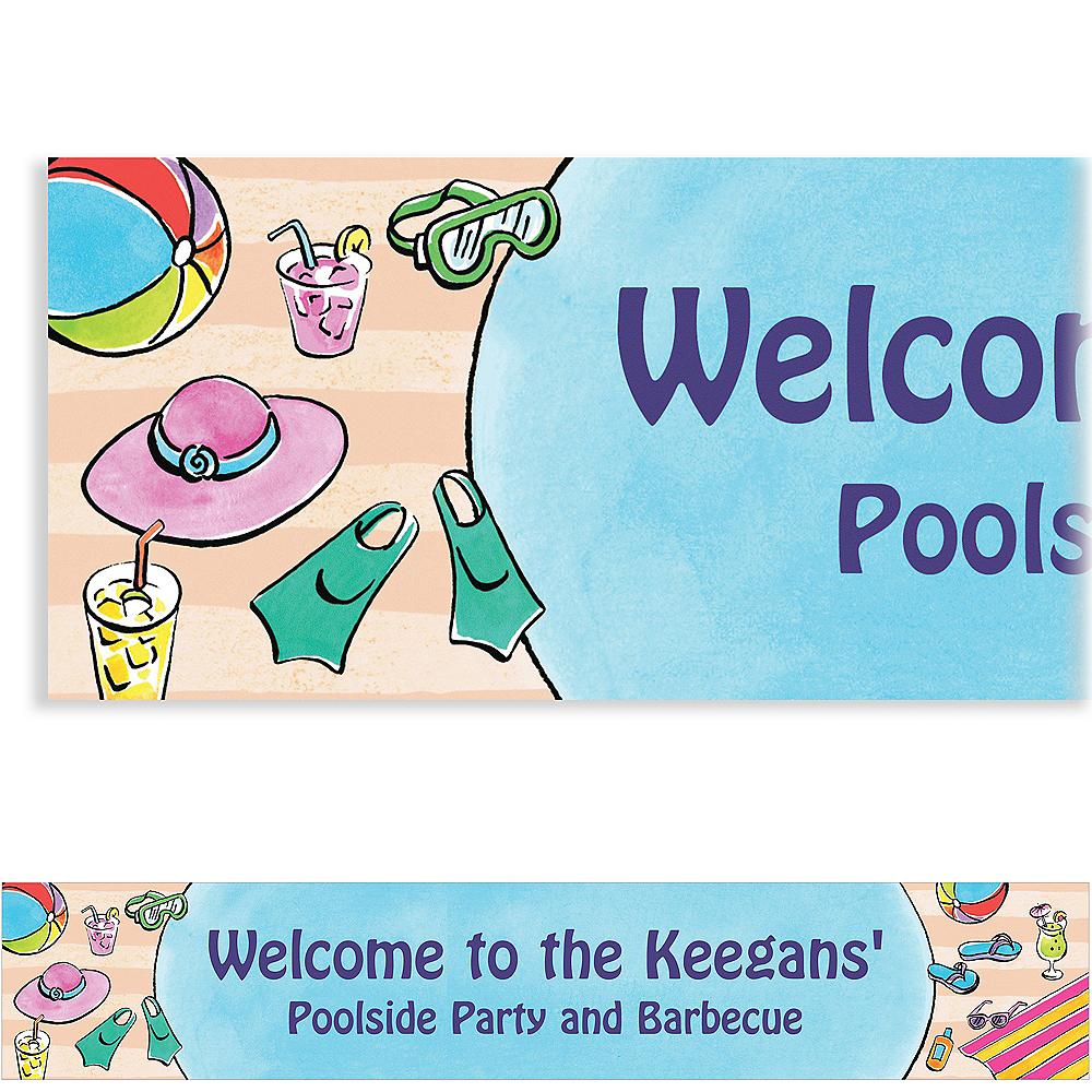 Custom Poolside Soiree Banner 6ft Image #1