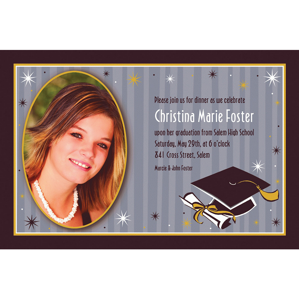 Custom Grad Honors Photo Invitations Image #1