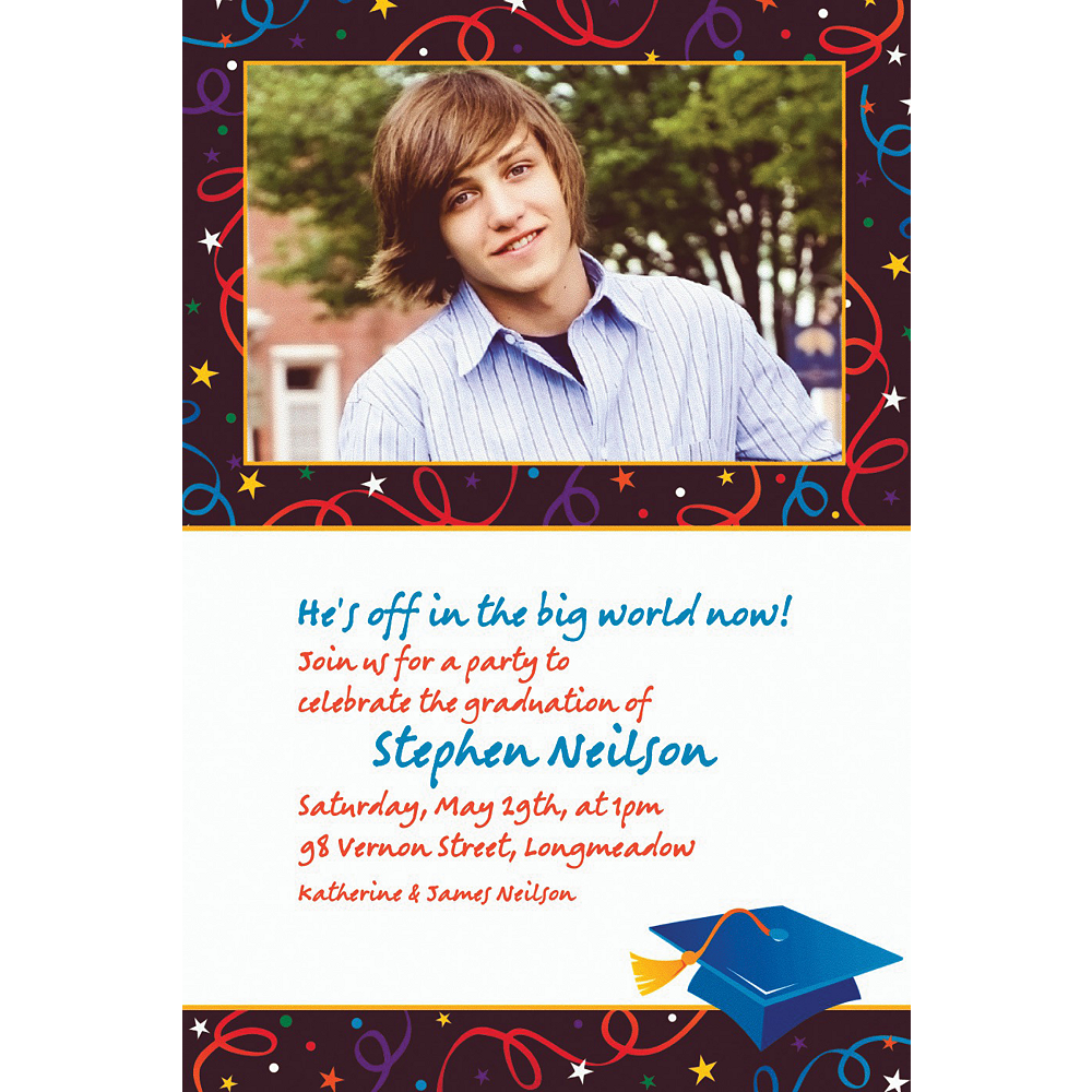 Custom Grad Celebration Photo Invitations  Image #1