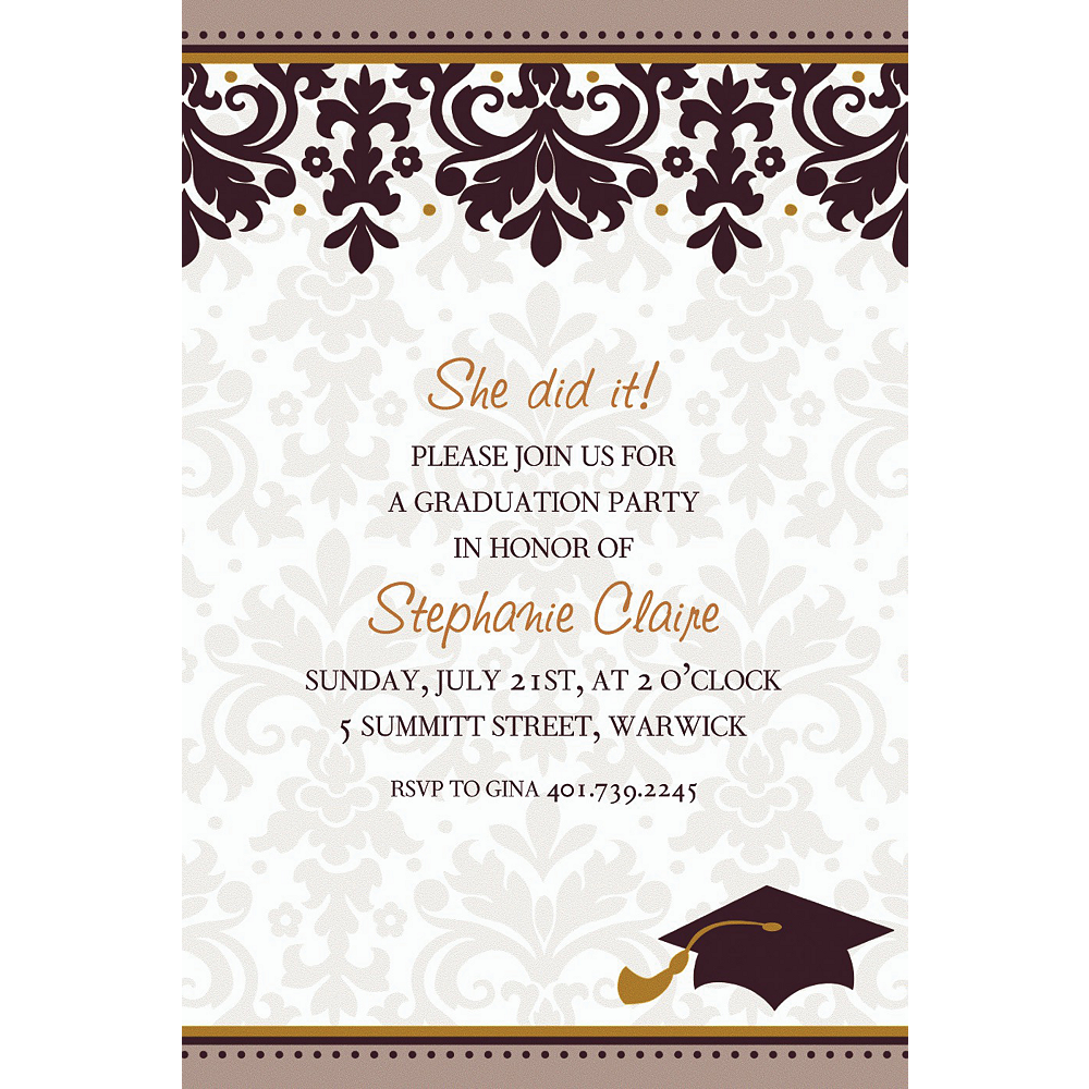 Custom Black & White Graduation Invitations | Party City