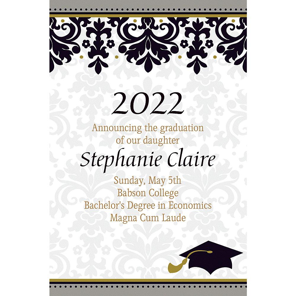 Custom Black & White Graduation Announcements | Party City